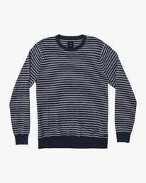 0 Kemper Striped Knit Sweater Grey MV31WRKE RVCA