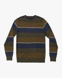 0 Kemper Striped Knit Sweater Green MV31WRKE RVCA