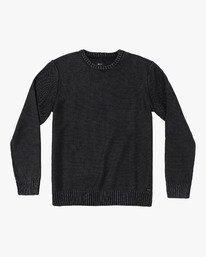 0 Cal Stone Washed Sweater Black MV33WRCA RVCA