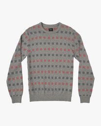 0 Mini Jacquard Sweater Grey MV41SRMJ RVCA