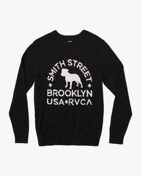 0 Smith Street Knit Sweater Black MV53VRSS RVCA