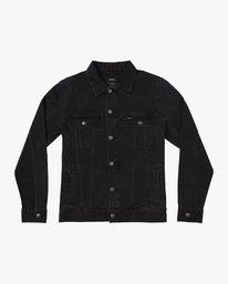 0 Daggers Denim Jacket Black N1JKRARVP9 RVCA