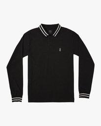 0 Hi Grade ANP - Long Sleeves Polo for Men Black N1KTRERVP9 RVCA