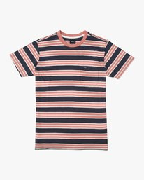 0 Lucas Stripe T-Shirt Blue N1KTRKRVP9 RVCA