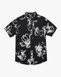 0 Vaughn Linear SS Shirt Black N1SHRIRVP9 RVCA