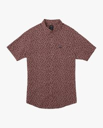0 Ficus Floral - Short Sleeves Shirt for Men Rot N1SHRWRVP9 RVCA