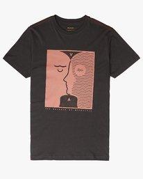 0 Faces SS T-Shirt Black N1SSSERVP9 RVCA