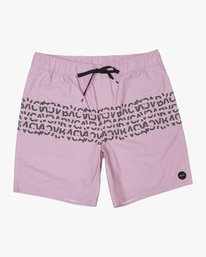 "0 Shattered Elastic Trunk - 17"" Boardshorts for Men Purple N1VORBRVP9 RVCA"