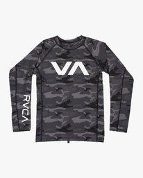 0 Sport Rashguard - Long Sleeve Rash Vest for Men Camo N4MYRARVP9 RVCA