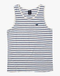 0 Vincent Stripe - Tank Top for Men Silver P1KTRDRVS9 RVCA