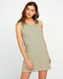 0 ON THE FENCE DRESS White P3DRRJRVS9 RVCA