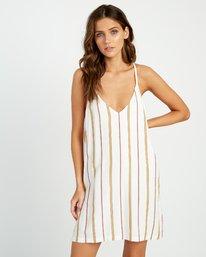 0 Fluke Stripe - Dress for Women White P3DRRKRVS9 RVCA