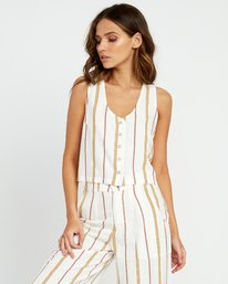 Note To Self - Striped Top for Women  P3TPRFRVS9