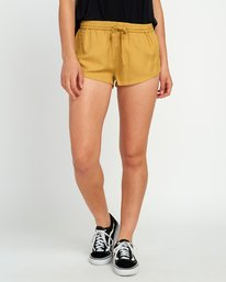 0 Cut Corners Elastic Soft Short Yellow P3WKRARVS9 RVCA