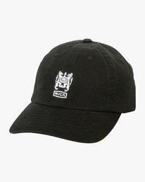 0 Crest  - Strapback Cap Black P5CPRFRVS9 RVCA
