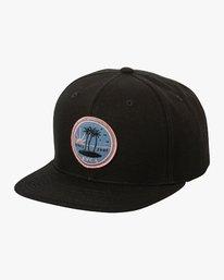 0 Tropics Snapback Cap Black P5CPRGRVS9 RVCA