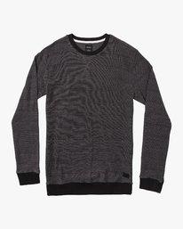 0 Luxury Long Sleeve Knit T - hirt Black Q1KTRERVF9 RVCA