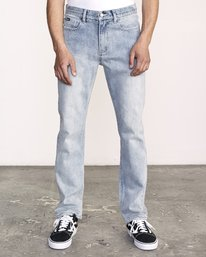 0 Weekend Denim - Jeans in Denim con Vestibilità Straight da Uomo Beige Q1PNRERVF9 RVCA