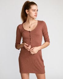 Twister  - Ribbed Long Sleeve Dress  Q3DRRGRVF9