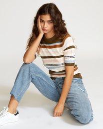 Nora  - Striped Knit Sweater  Q3JPRGRVF9