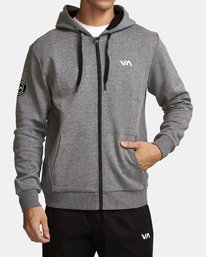 0 Sideline  - Athletic Hoodie for Men Grey Q4ZHMARVF9 RVCA