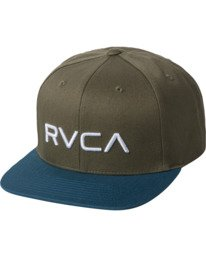 0 RVCA Twill - Snapback Hat for Men Green Q5CPRCRVF9 RVCA