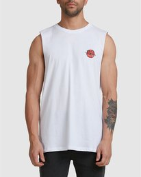 2 NEVERMIND MUSCLE White R105009 RVCA