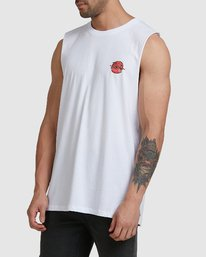 1 NEVERMIND MUSCLE White R105009 RVCA