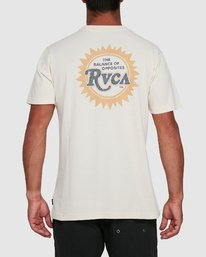 3 SUNBURST POCKET SHORT SLEEVE TEE  R105043 RVCA