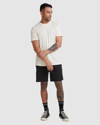 4 Rvca Washed Short Sleeve Tee White R105050 RVCA
