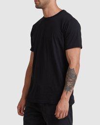1 Rvca Washed Short Sleeve Tee Black R105050 RVCA