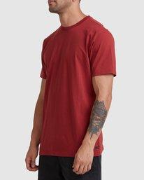1 Rvca Washed Short Sleeve Tee Pink R105050 RVCA