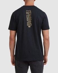 2 Vert Liner Short Sleeve Tee Black R105052 RVCA