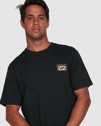 9 Vert Liner Short Sleeve Tee Black R105052 RVCA
