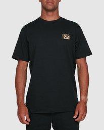 5 Vert Liner Short Sleeve Tee Black R105052 RVCA