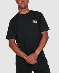 6 Vert Liner Short Sleeve Tee Black R105052 RVCA