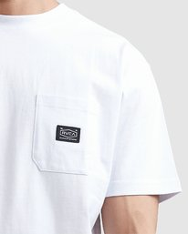 3 CHAINMAIL POCKET SS TEE White R105069 RVCA