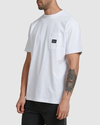 1 CHAINMAIL POCKET SS TEE White R105069 RVCA