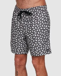 0 RADIAL ELASTIC SHORT Black R105400 RVCA