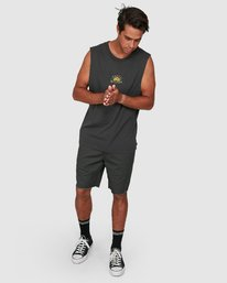 5 Central Muscle Top Black R106003 RVCA