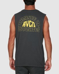 2 Central Muscle Top Black R106003 RVCA
