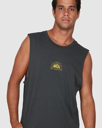 3 Central Muscle Top Black R106003 RVCA