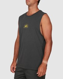 1 Central Muscle Top Black R106003 RVCA