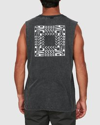 2 Puzzle Muscle Top  R106006 RVCA