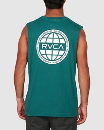 2 Rvca Worldwide Muscle Top Green R106007 RVCA
