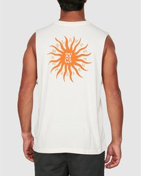 0 Sun Of Rvca Muscle Top White R106008 RVCA