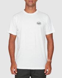 0 Rvca Hex Short Sleeve Tee White R106058 RVCA