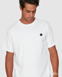 3 Vapor Er Short Sleeve Tee White R106064 RVCA