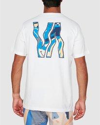 0 Vapor Er Short Sleeve Tee White R106064 RVCA