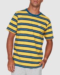 2 Speak Up Stripe Short Sleeve Tee Yellow R106065 RVCA